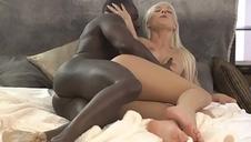 BLACK4K. Huge dick of black bf enters juicy white pussy